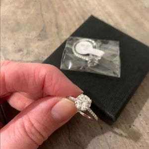 2 ct cubic zirconia engagement ring, size 6.